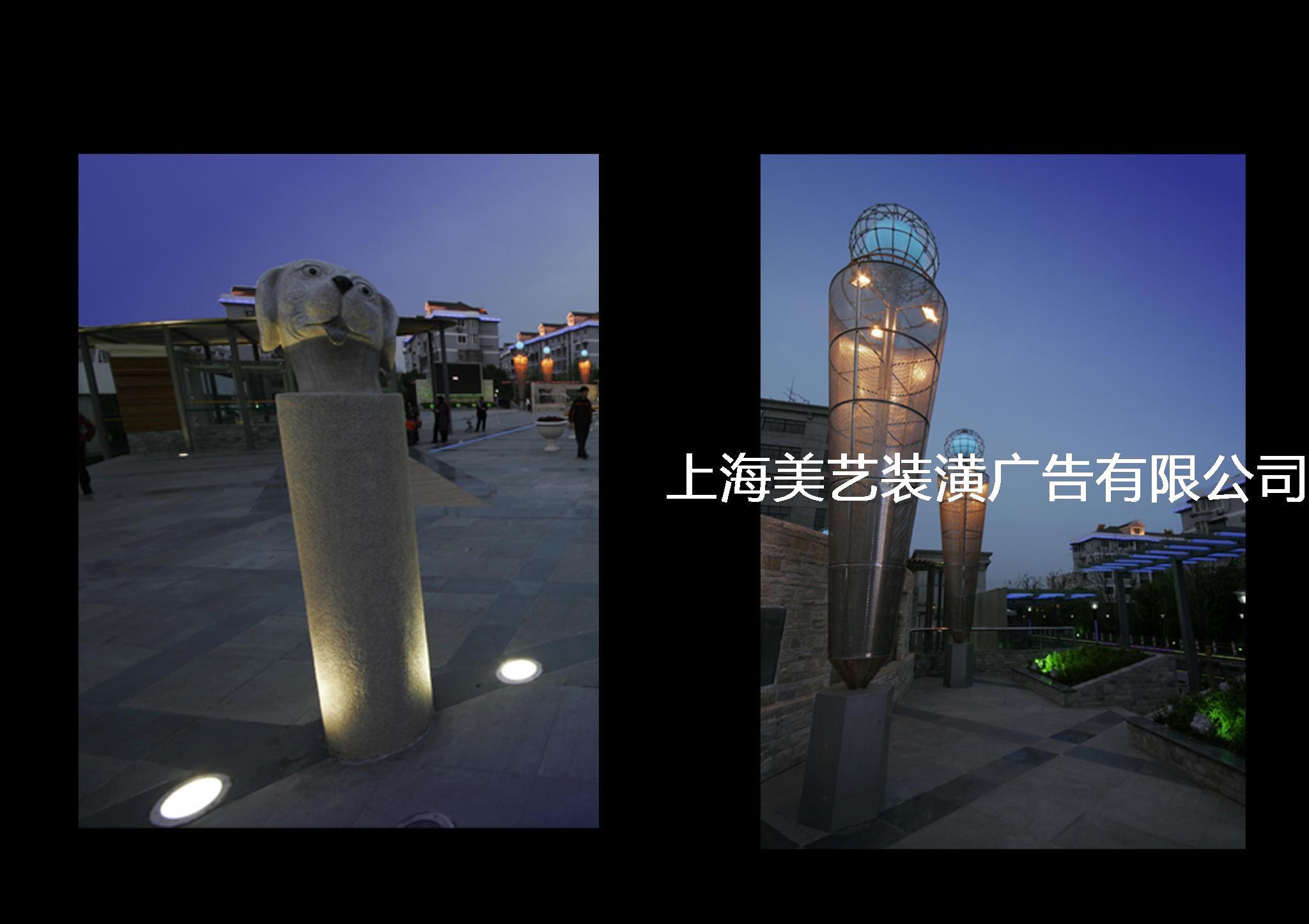 广场景观灯光设计图片